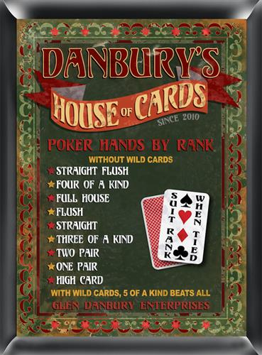 Pub Sign - House of Cards - GiftsEngraved