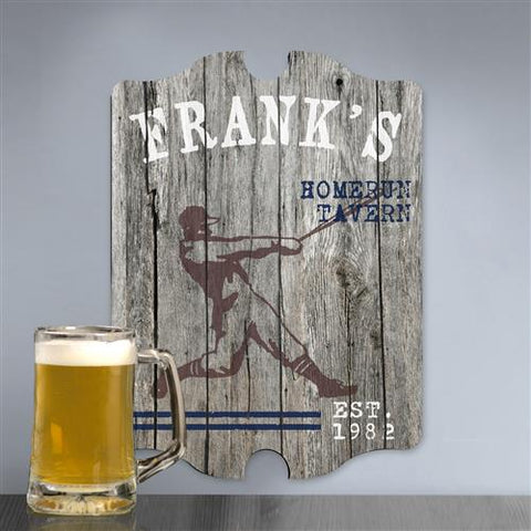 Vintage Sports Man Cave Pub and Tavern Signs - HOMERUN - GiftsEngraved