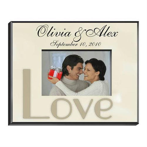 Parchment Love Picture Frame Free Engraving - GiftsEngraved