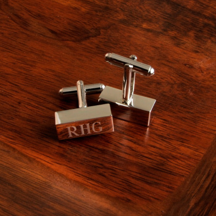 Personalized Cufflink Bars Free Engraving - GiftsEngraved