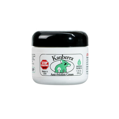 Kanberra Anti-Friction Cream 1.75 Oz. (50 g) Container, Stop Chafing Naturally, Made in USA with Certified Pure Tea Tree Oil