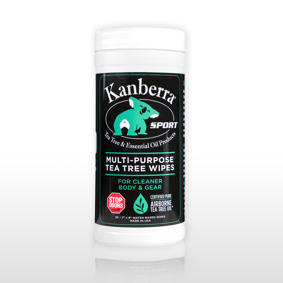 Kanberra Sport Multi-Purpose Tea Tree Wipes - 30 count