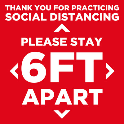 "12"" Social Distancing Floor Sticker"