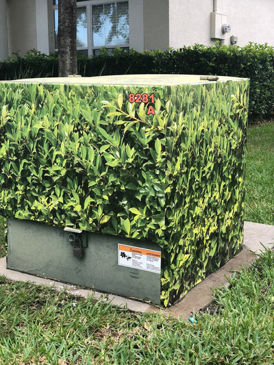 Hide That Utility Box with our Bush Wrap!