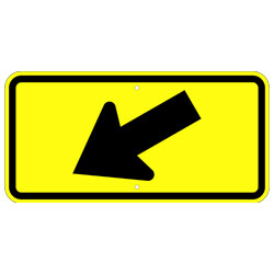 Diagonal Left Arrow Sign