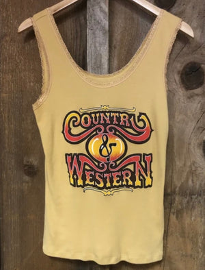 Country & Western Lace Tank
