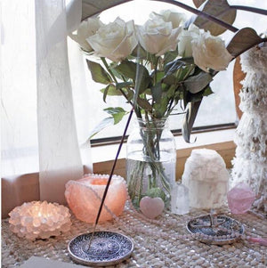 Quartz Crystal Candle Holder - Waylon + Willie Boutique