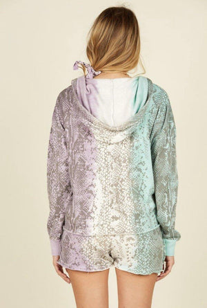 Snake Skin Burnout Hoodie - Waylon + Willie Boutique