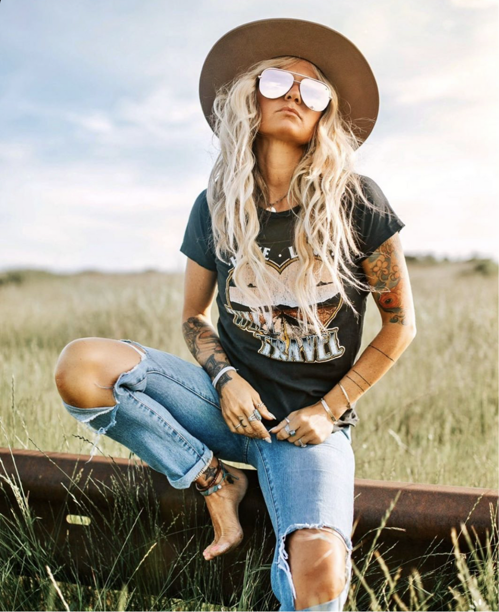 Have Love Will Travel Tee - Waylon + Willie Boutique