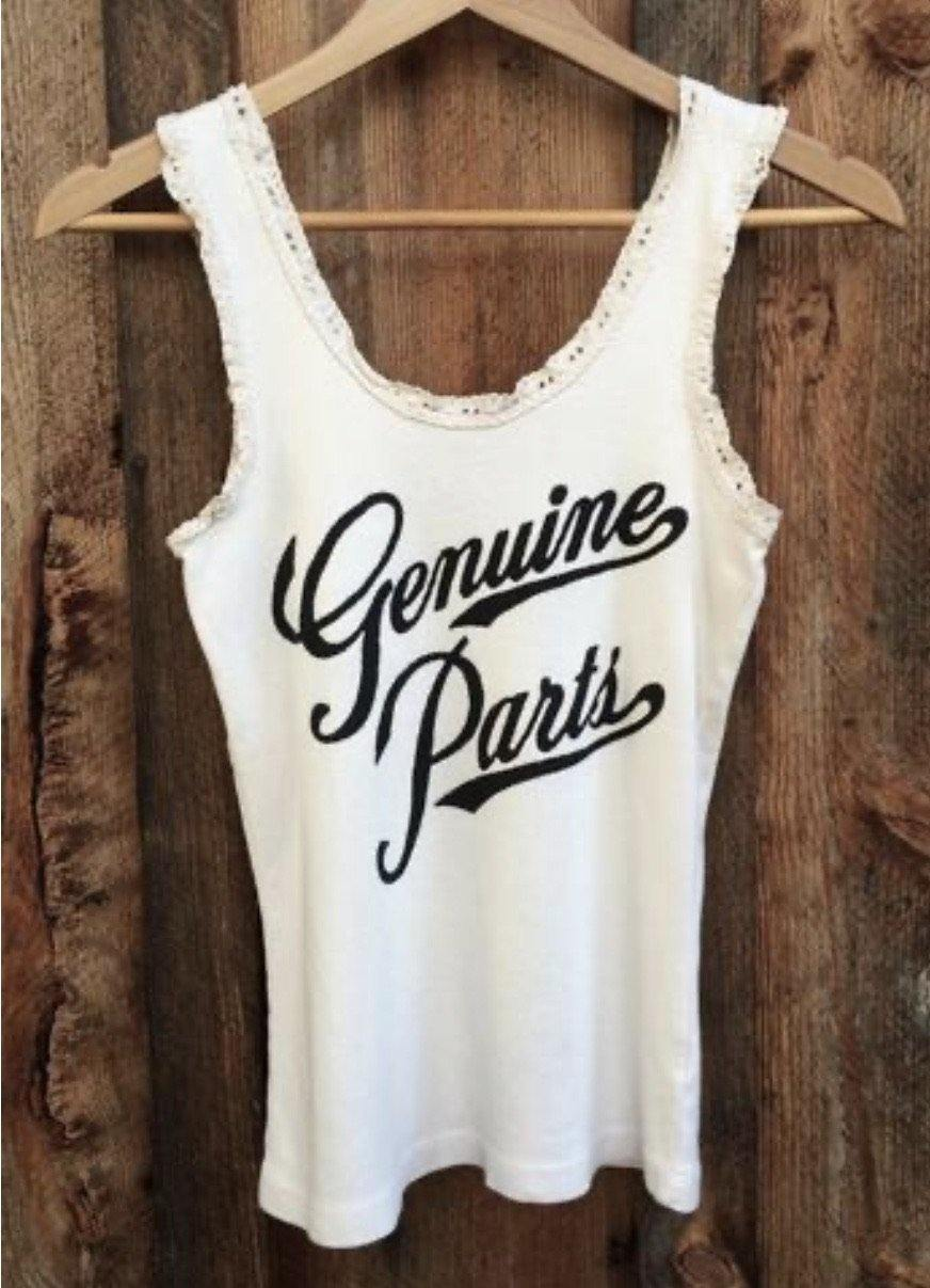 Genuine Parts Lace Tank