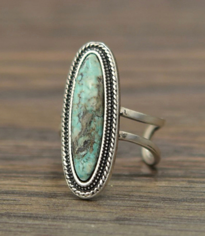 Stone Mountain Turquoise Ring - Small
