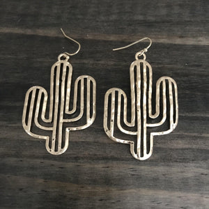 'Don't Think Twice' Cactus Earring - Waylon + Willie Boutique