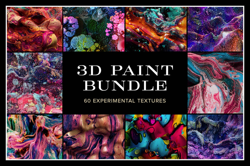 3D Paint Bundle: 60 Experimental Textures-Chroma Supply
