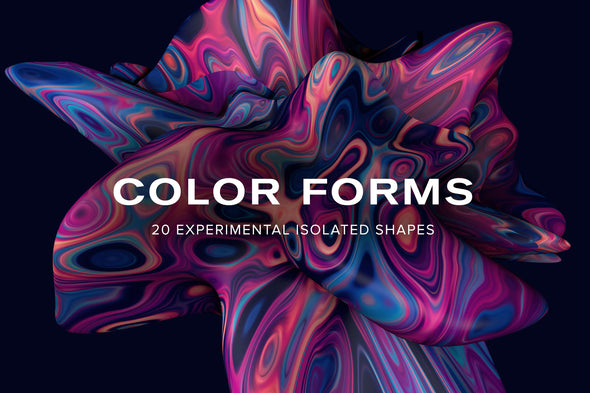 Color Forms: 20 Experimental Isolated Shapes
