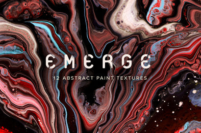 Emerge: 12 Abstract Paint Textures-Chroma Supply