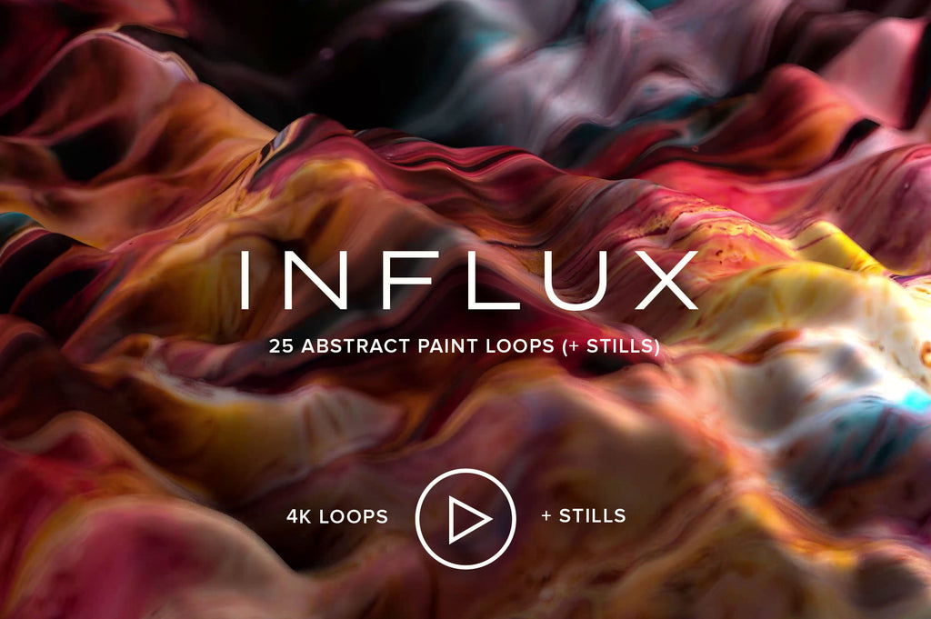 Influx: 25 Abstract Paint Loops (+ Stills)-Chroma Supply