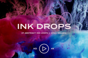 Ink Drops: 27 Abstract Ink Loops