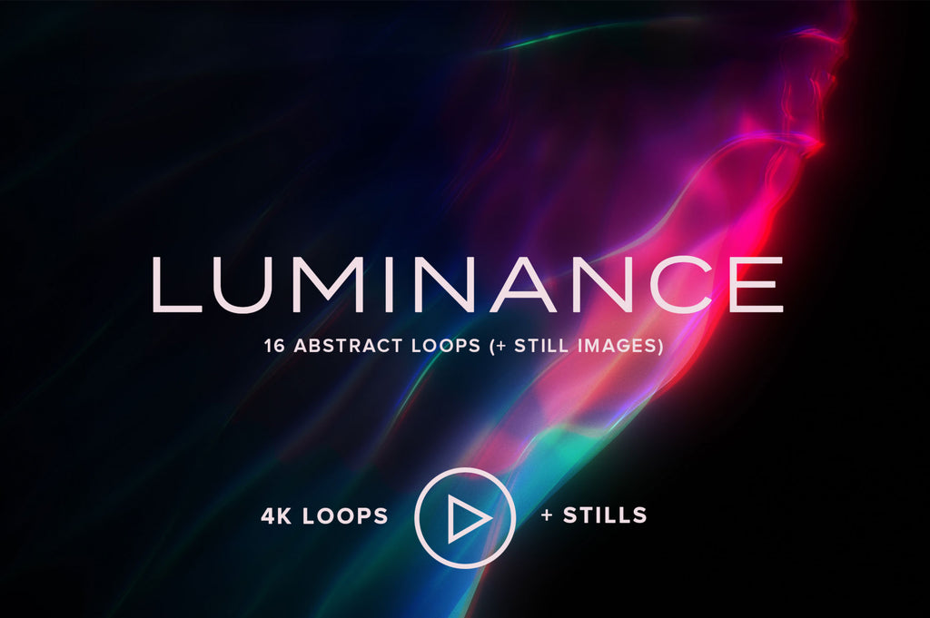 Luminance: 16 Abstract Video Loops + Stills-Chroma Supply