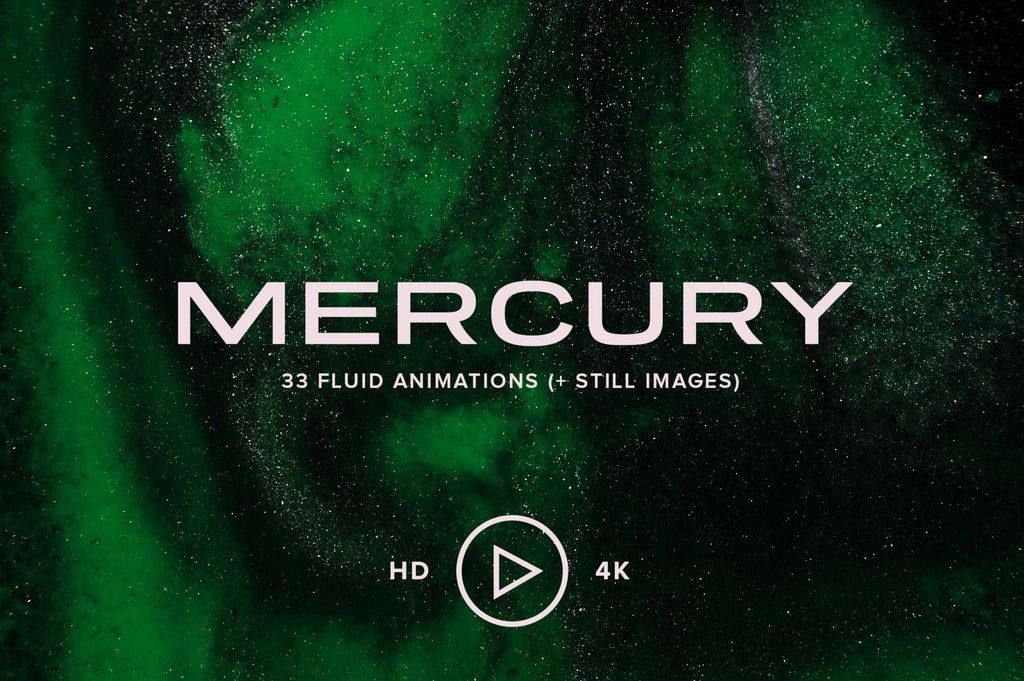 Mercury: 33 Swirling Fluid Animations-Chroma Supply