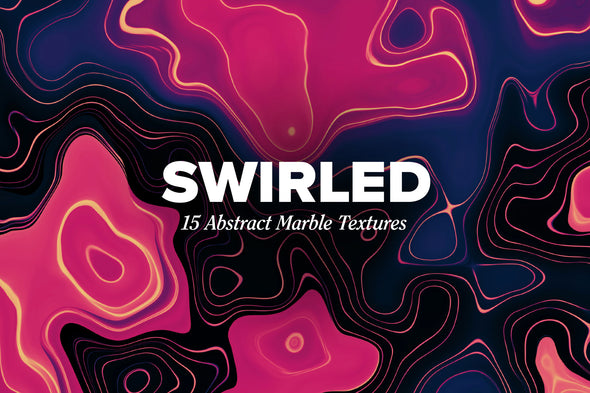 Swirled: 15 Abstract Marbled Textures-Chroma Supply