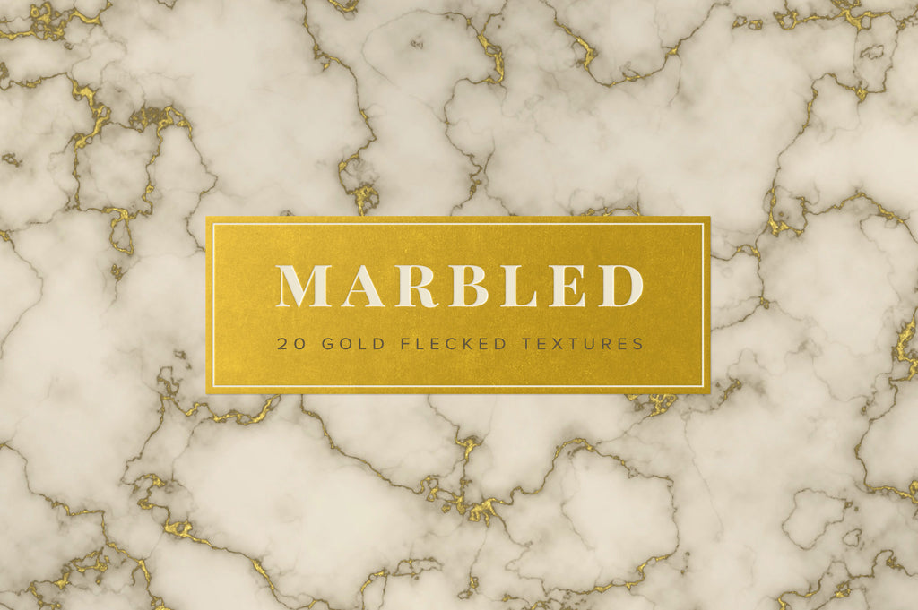 Marbled: 80 Gold Flecked Textures-Chroma Supply