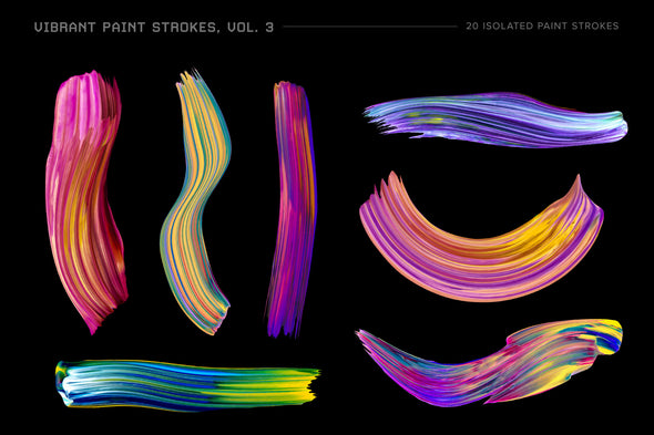 Vibrant Paint Strokes, Vol. 3-Chroma Supply