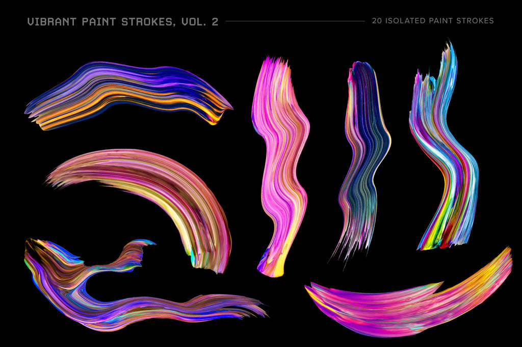 Vibrant Paint Strokes, Vol. 2-Chroma Supply