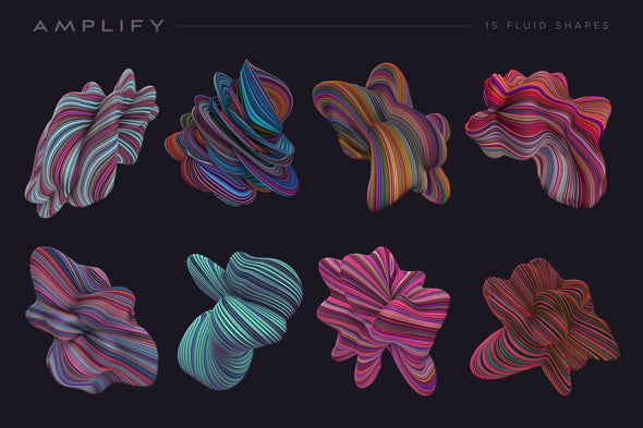 Amplify: 15 Fluid Shapes-Chroma Supply