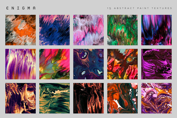 Enigma: 15 Abstract Paint Textures-Chroma Supply