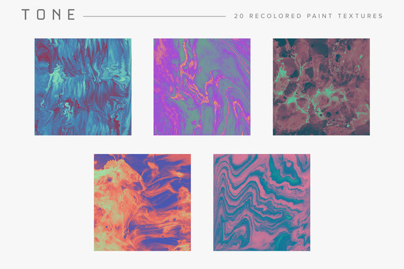 Tone: Recolored Paint Textures-Chroma Supply