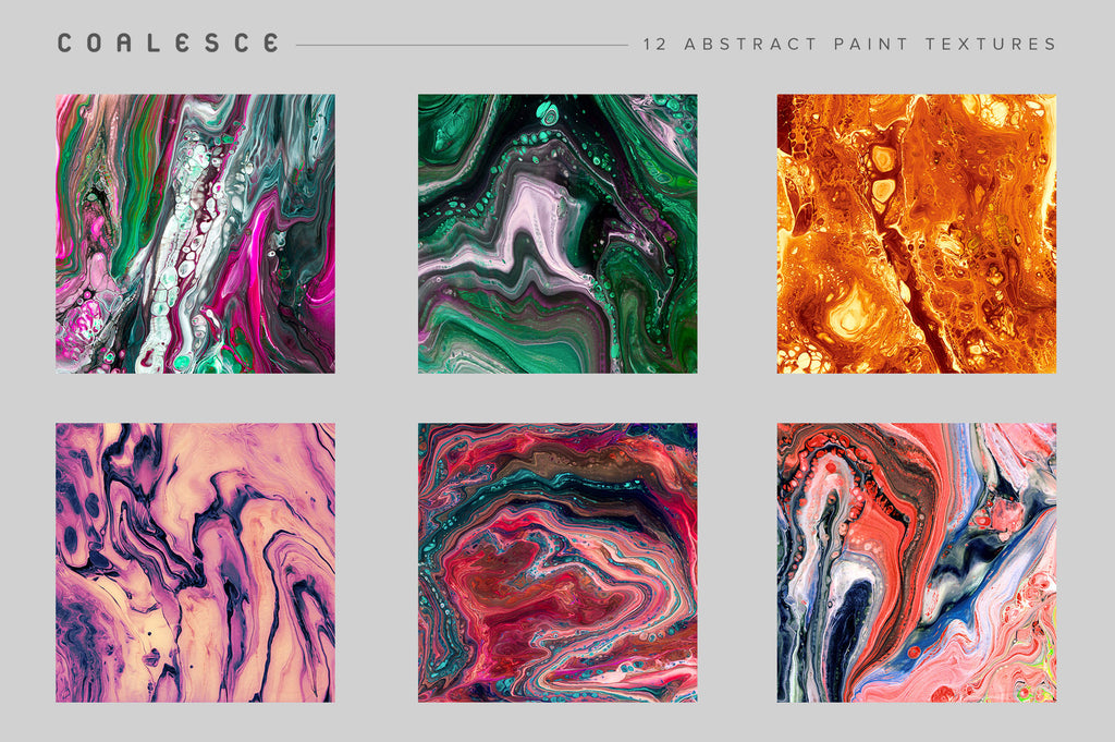 Coalesce: 12 Abstract Paint Textures-Chroma Supply