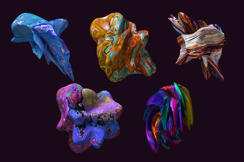 Color Forms: 20 Experimental Isolated Shapes-Chroma Supply