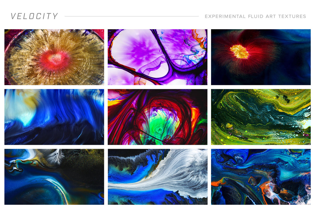 Velocity: 8K Experimental Fluid Art Textures-Chroma Supply