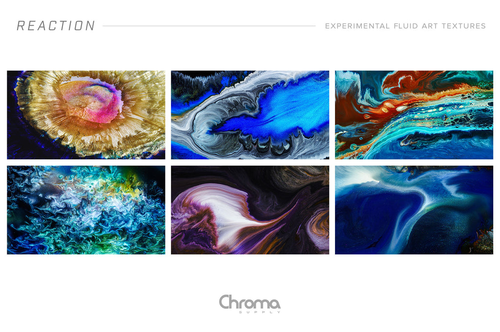 Reaction: 8K Experimental Fluid Art Textures-Chroma Supply