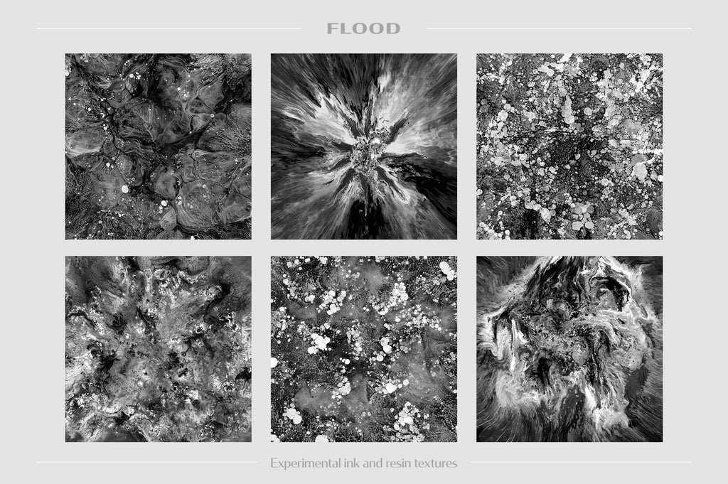 Flood: Experimental Ink and Resin Textures-Chroma Supply