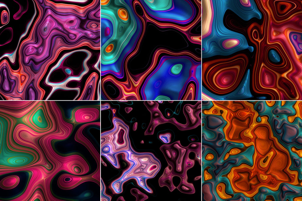 Meld: Glossy Abstract 3D Textures-Chroma Supply