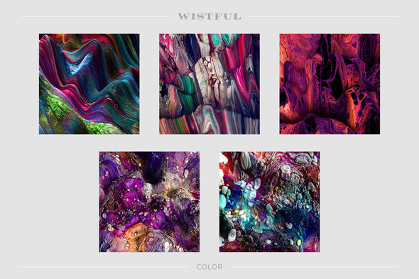Wistful: Experimental 3D Paint Textures-Chroma Supply
