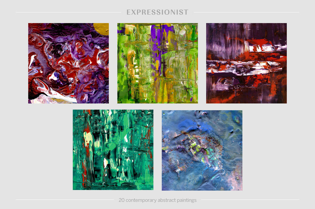 Expressionist: 20 Contemporary Abstract Paintings-Chroma Supply
