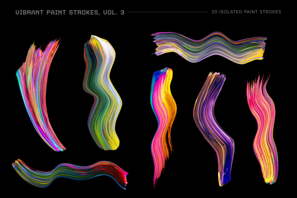 Vibrant Paint Strokes Bundle-Chroma Supply