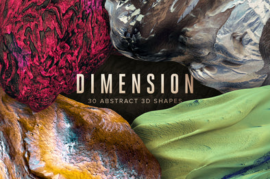 Dimension: 30 Abstract 3D Shapes-Chroma Supply
