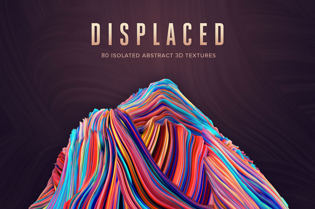 Displaced: 80 Isolated 3D Textures-Chroma Supply