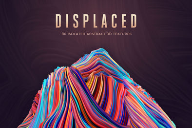 Displaced: 80 Isolated 3D Textures