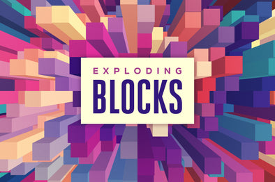 Exploding Blocks: Abstract 3D Backgrounds-Chroma Supply
