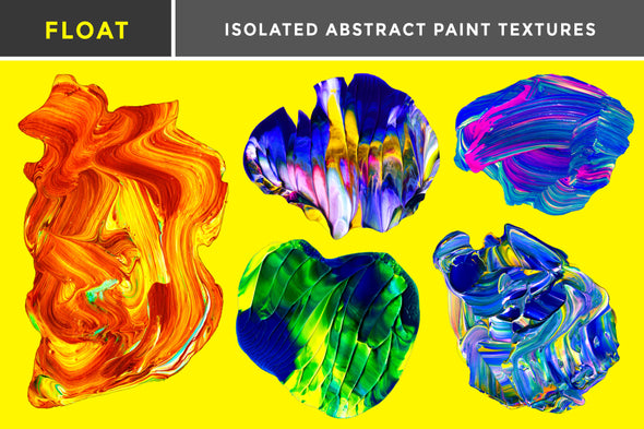 Float: Isolated Abstract Paint Textures-Chroma Supply