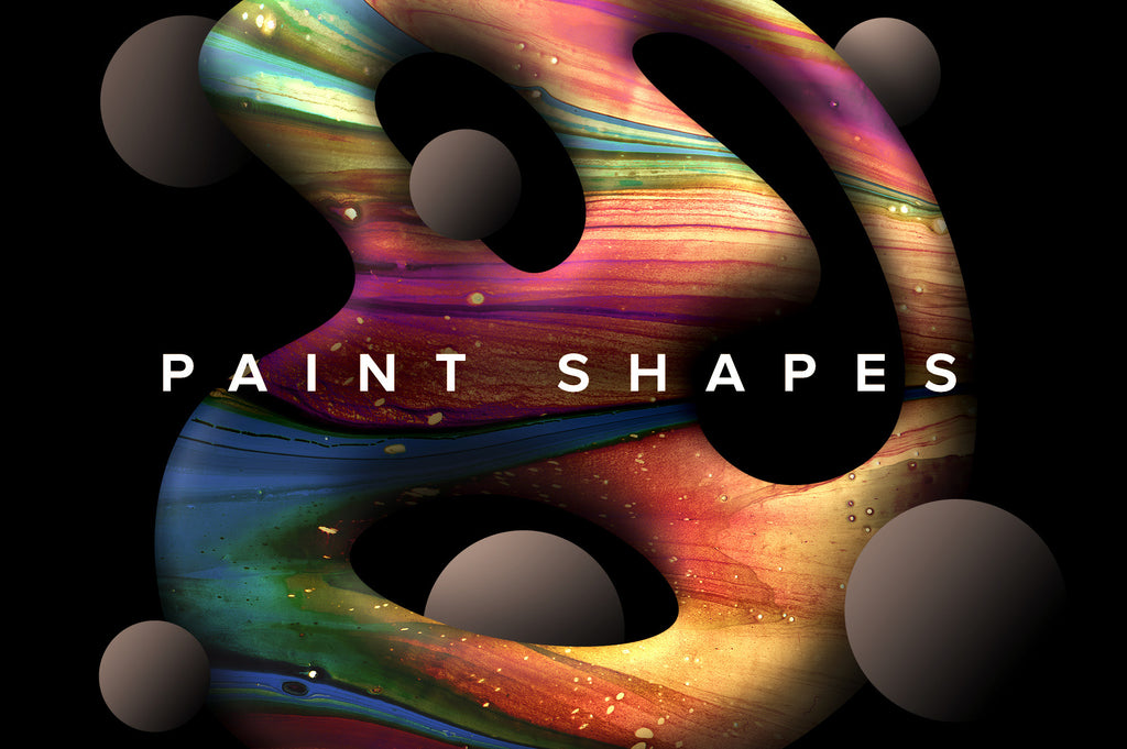 Paint Shapes: 40 Isolated 3D Elements-Chroma Supply