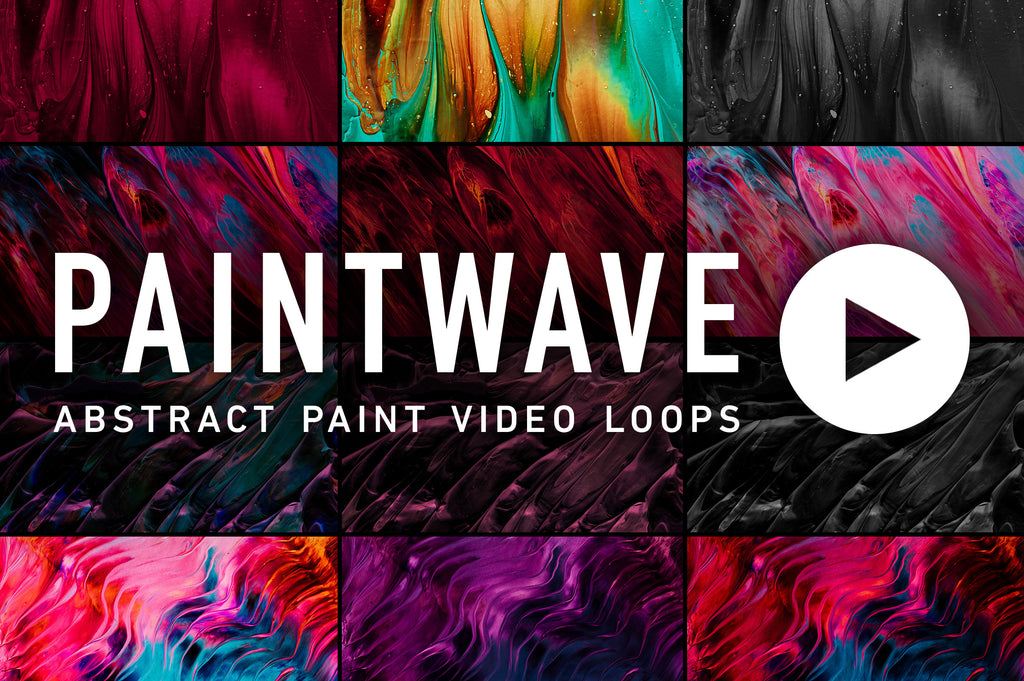 Paintwave: Looping Abstract Paint Animations-Chroma Supply