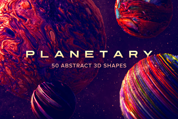 Planetary: Abstract 3D Shapes-Chroma Supply