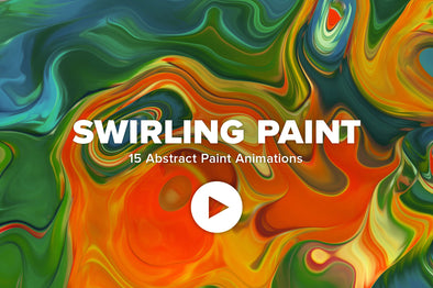 Swirling Paint: 15 Vibrant Animations-Chroma Supply