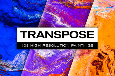 Transpose: Abstract Paint Textures-Chroma Supply