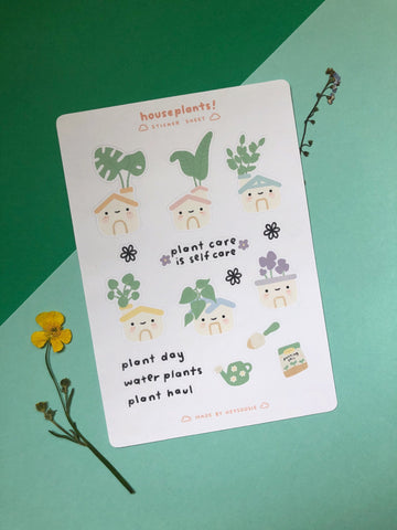 houseplant planner sticker sheet - Hey Soosie